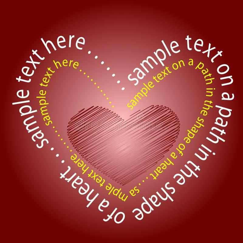 сердце сделало текст иллюстрация вектора