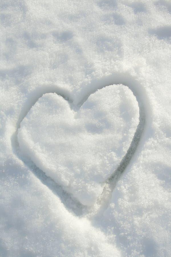 Сердце снежка стоковое изображение rf