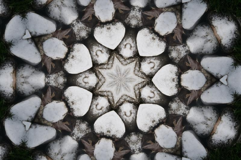 Сердце сформировало картины повторения с звездой в центре иллюстрация вектора