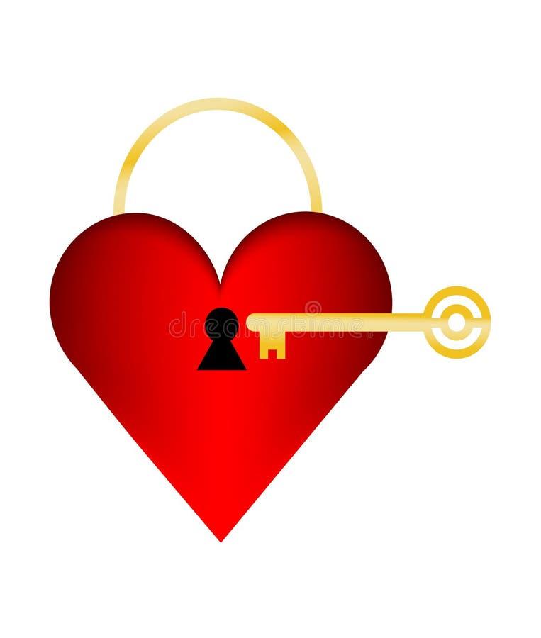 Сердце с keyhole и ключом   бесплатная иллюстрация