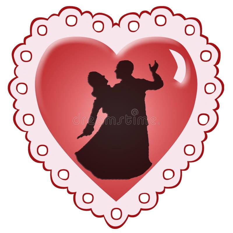 сердце танцоров иллюстрация вектора