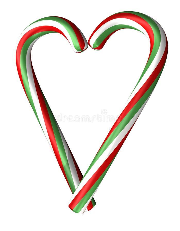 сердце тросточек конфеты бесплатная иллюстрация