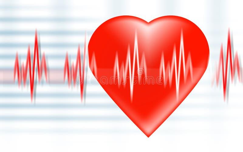 сердце удара иллюстрация вектора