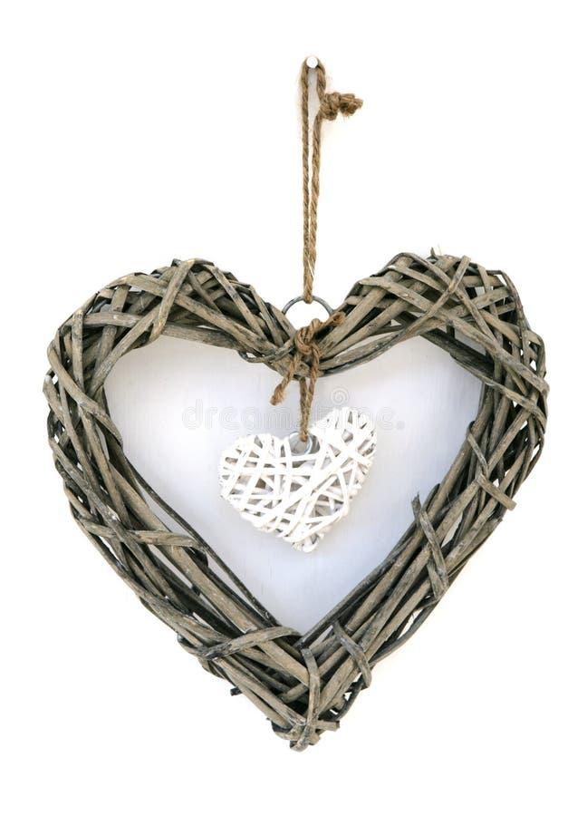 сердце украшения деревянное стоковое изображение rf