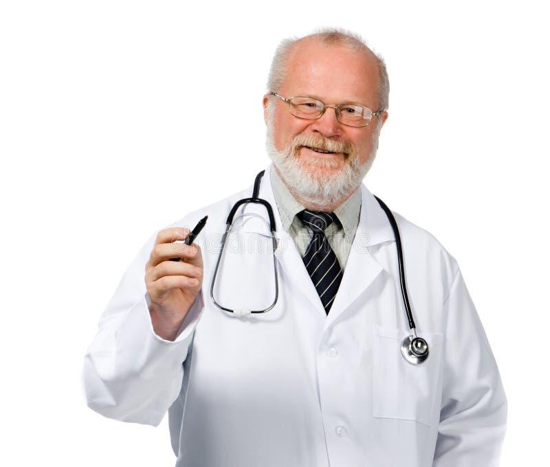Сердце чертежа доктора стоковое изображение rf