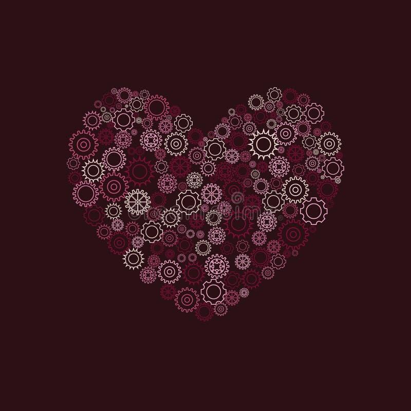 Сердце шестерней иллюстрация штока