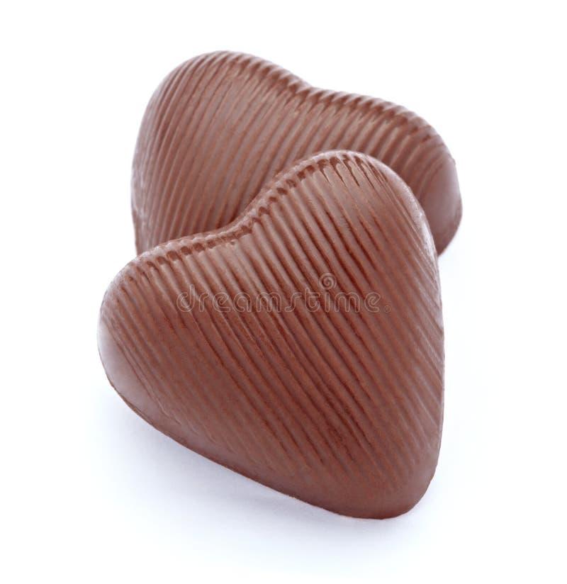 сердце шоколада стоковые фотографии rf
