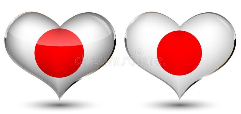 сердце япония флага бесплатная иллюстрация