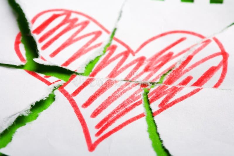 сердце breake стоковая фотография rf