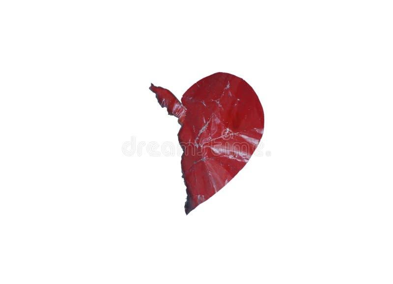 Сердце clipart разбитого сердца половинное стоковые изображения rf