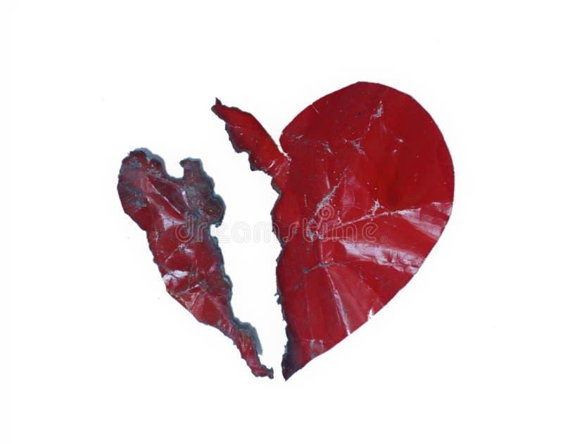 Сердце clipart разбитого сердца половинное стоковая фотография rf
