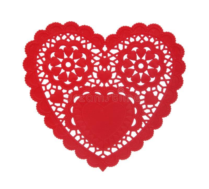 сердце doily стоковые изображения