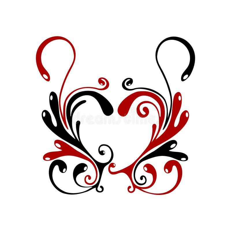 сердце flores иллюстрация вектора