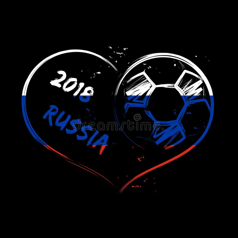 Сердце 2018 grunge футбола России бесплатная иллюстрация
