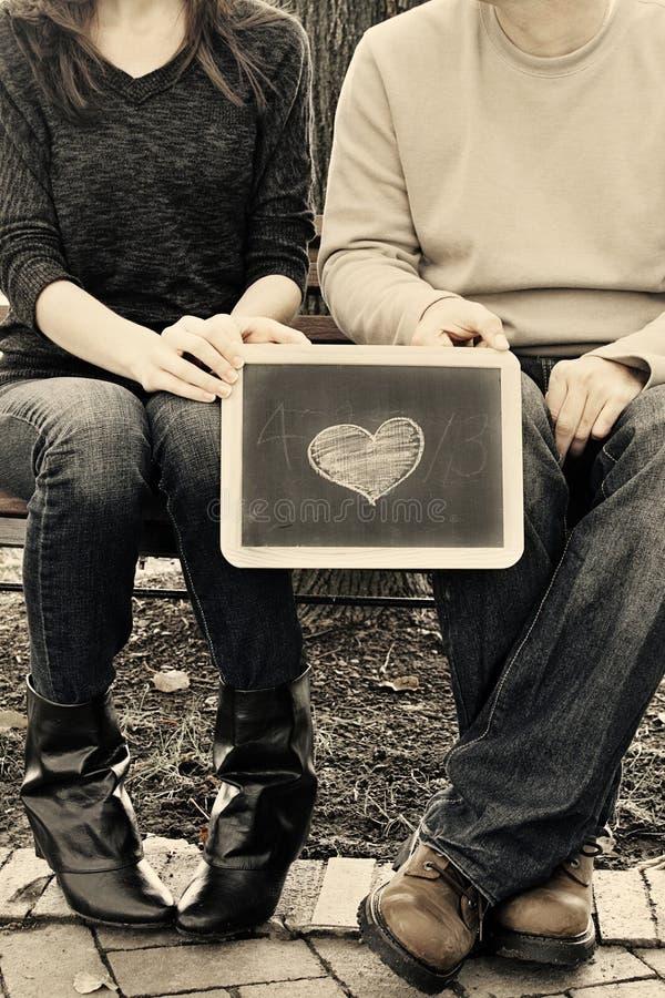 Сердце i вы всегда и навсегда стоковые фотографии rf