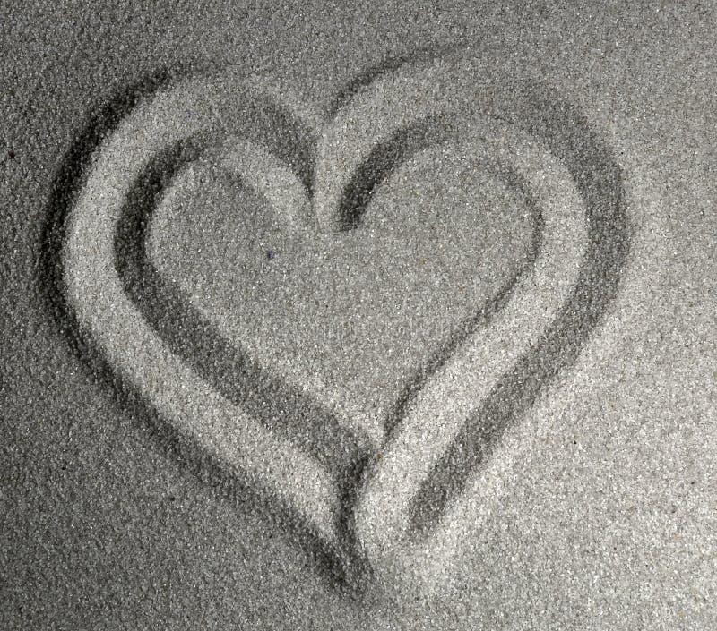 сердце I песочное Стоковые Фотографии RF