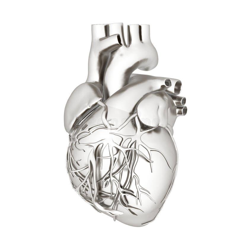 Сердце Metall 3d представляют иллюстрация вектора