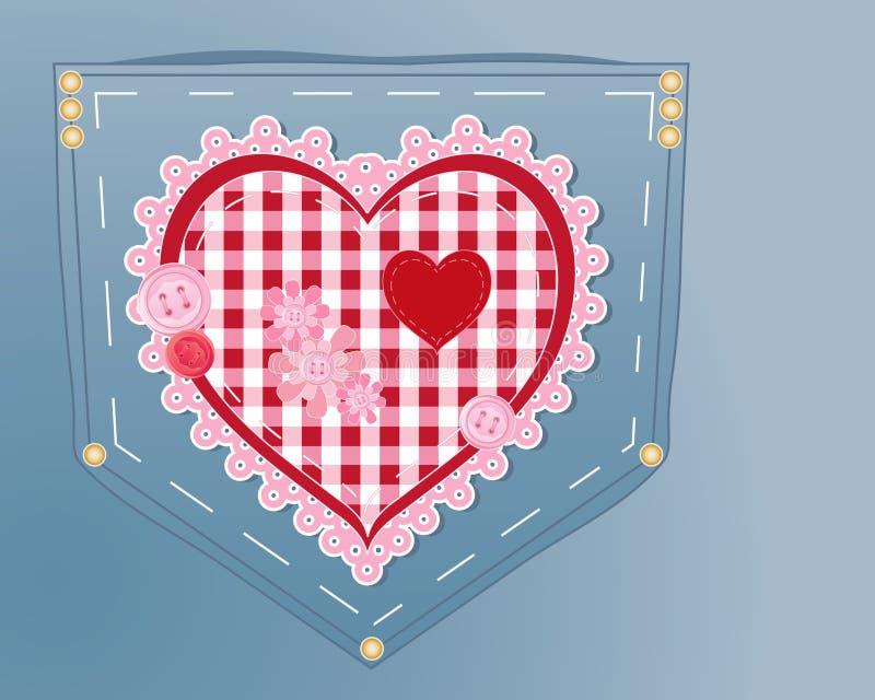 Сердце Needlework иллюстрация вектора