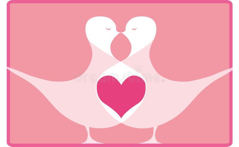 сердце s птицы иллюстрация вектора