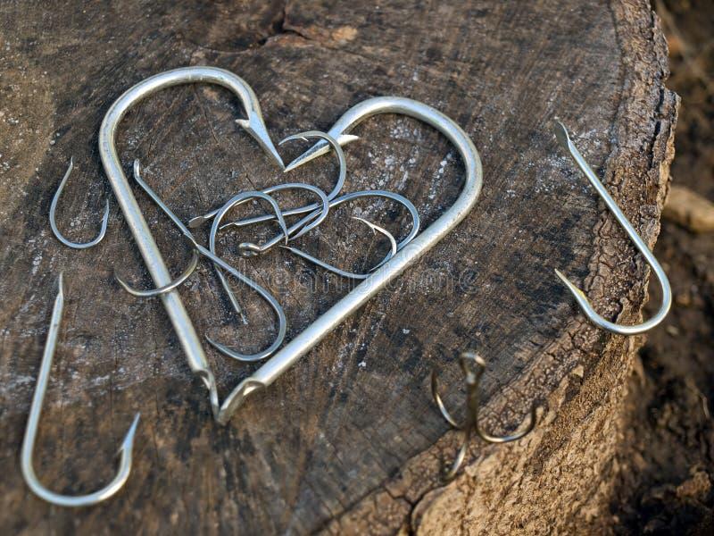 сердце s рыболова стоковые изображения