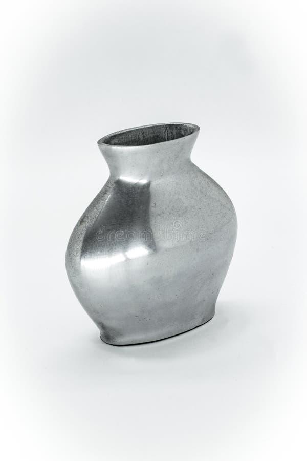 серебристая ваза заводов стоковое изображение rf
