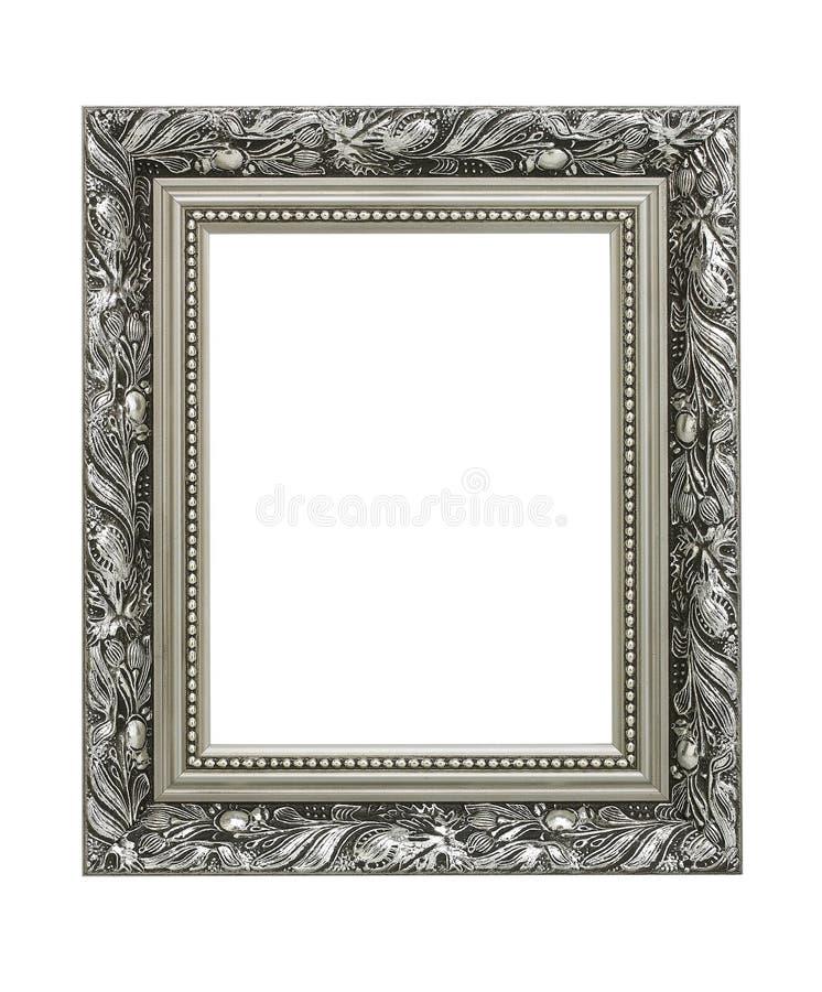 Серебряная богато украшенная картинная рамка стоковые фото