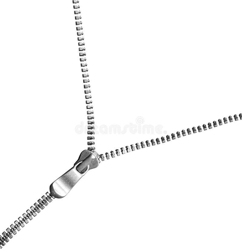 Серебряная застежка -молния стоковые изображения rf