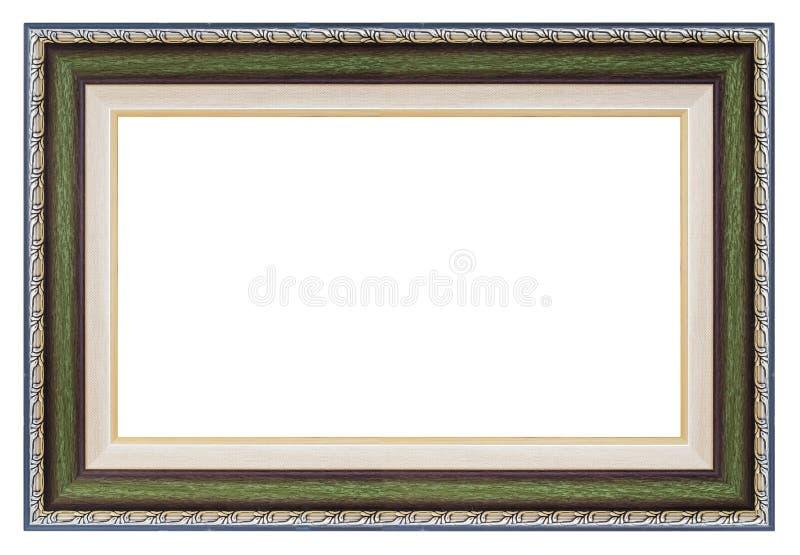 Серебряная и зеленая рамка стоковое фото