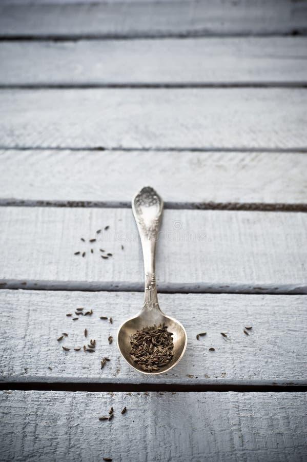 Серебряная ложка стоковая фотография