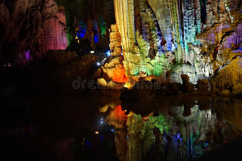 Серебряная пещера, Китай стоковые фотографии rf