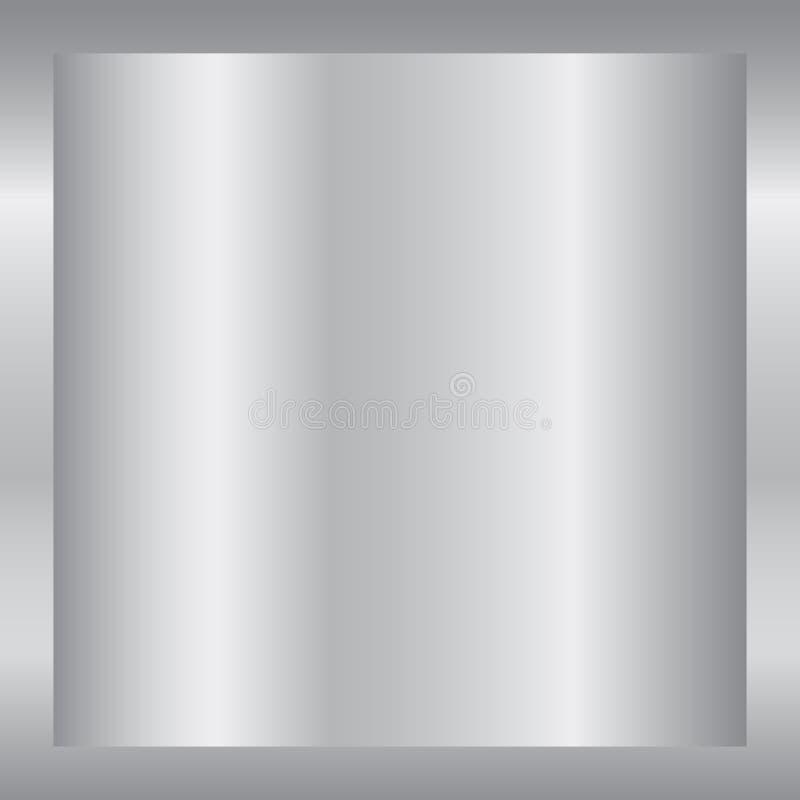 Серебряная предпосылка градиента Серебряная текстура дизайна для ленты, рамки, знамени Абстрактный серебряный шаблон градиента Ме иллюстрация вектора