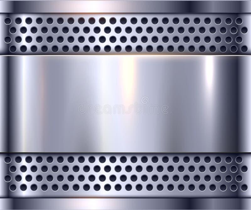 Серебряная предпосылка металла бесплатная иллюстрация