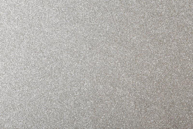 Серебряная предпосылка яркого блеска, сияющая бумажная текстура стоковые фото