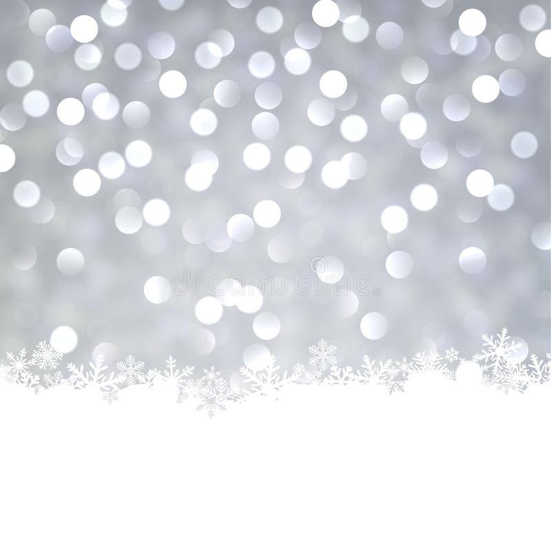 Серебряная предпосылка рождества. иллюстрация штока