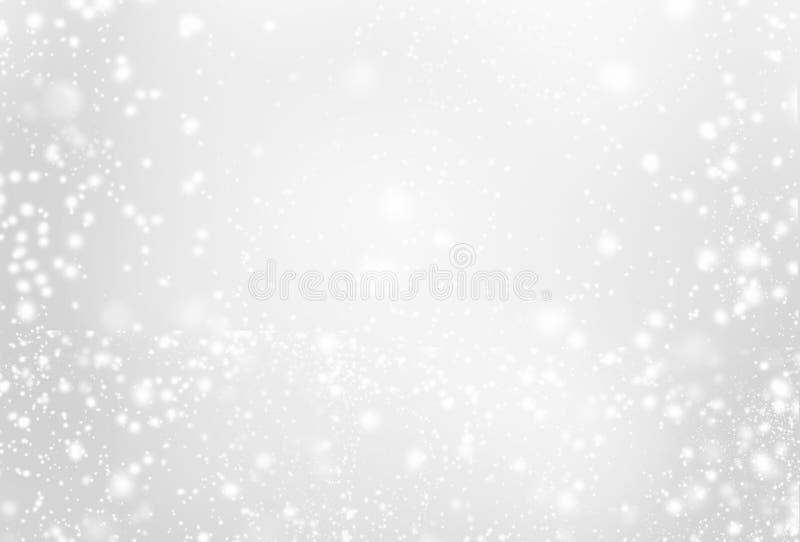 Серебряная предпосылка с сверкнать - абстрактное серое и белое ligh стоковые изображения rf