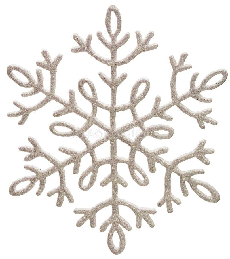 серебряная снежинка стоковые фото