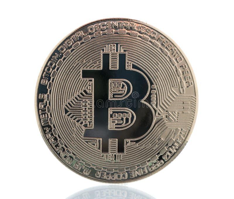 Серебряная съемка крупного плана монетки бита стоковые фотографии rf