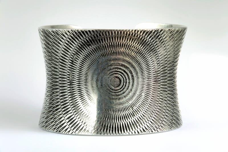 Серебряная текстура браслета стоковая фотография rf