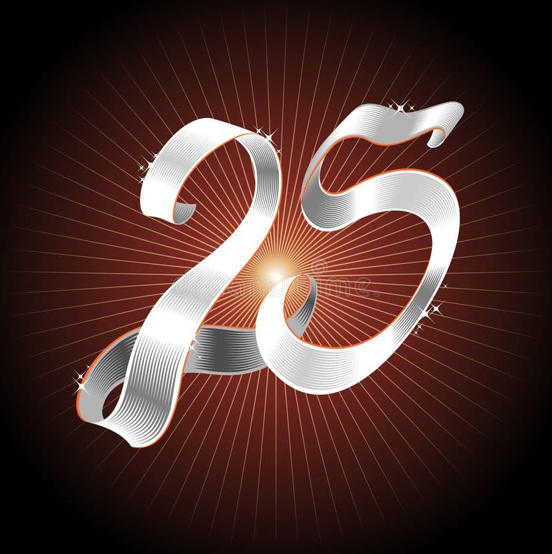 Серебряная тесемка 25 иллюстрация вектора