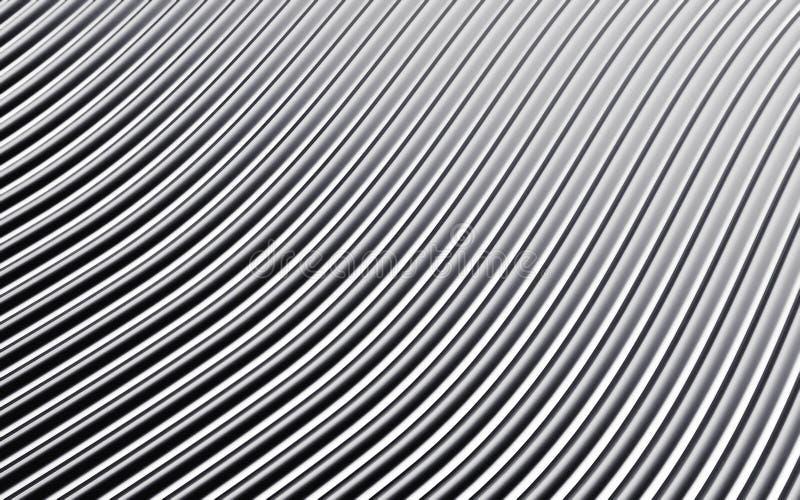 Серебряное абстрактное изображение линий предпосылки 3d представляют иллюстрация вектора