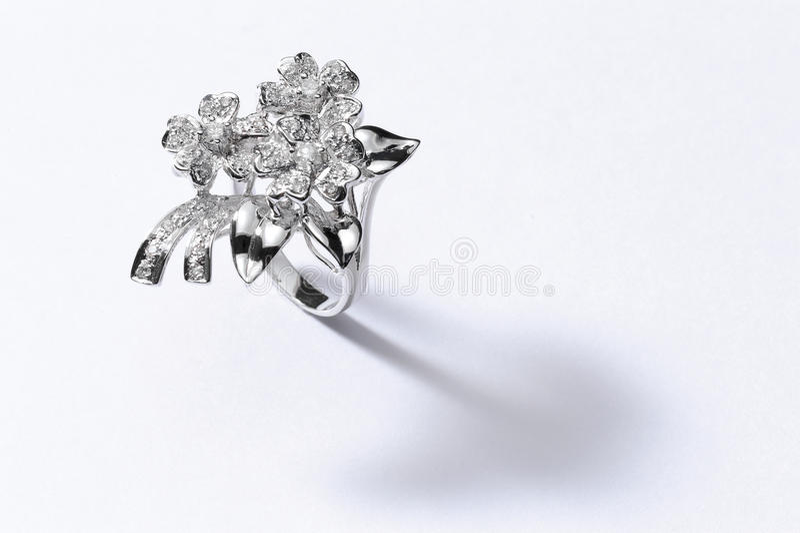 Серебряное кольцо стоковое фото rf