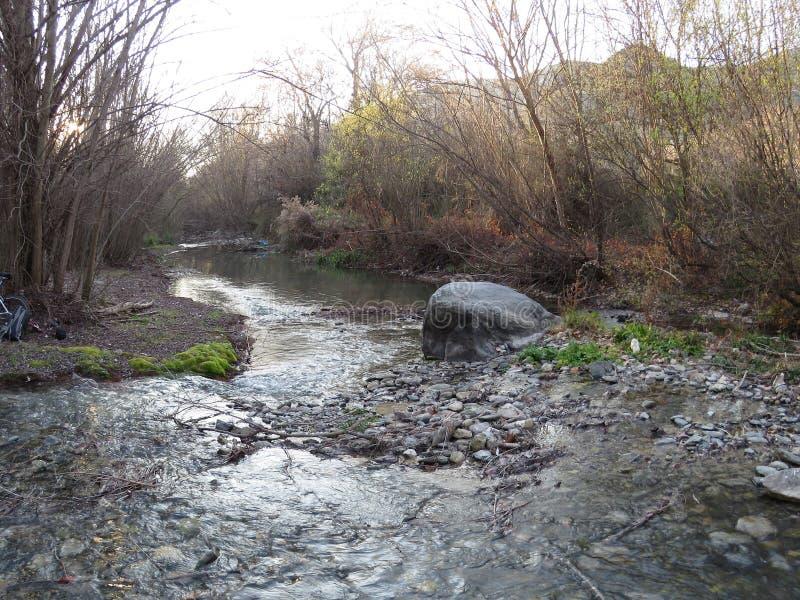 Серебряное река стоковая фотография rf