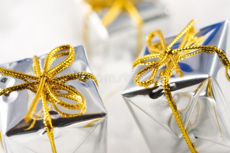 Серебряное рождество стоковое фото rf