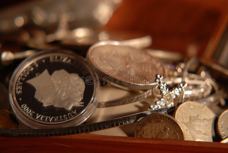 серебряное сокровище стоковое фото rf
