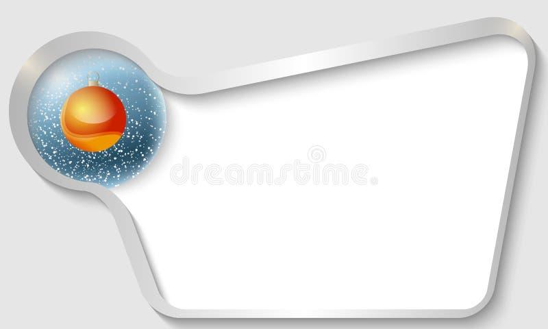 Серебряное текстовое поле бесплатная иллюстрация