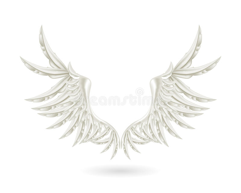 серебряные крыла бесплатная иллюстрация