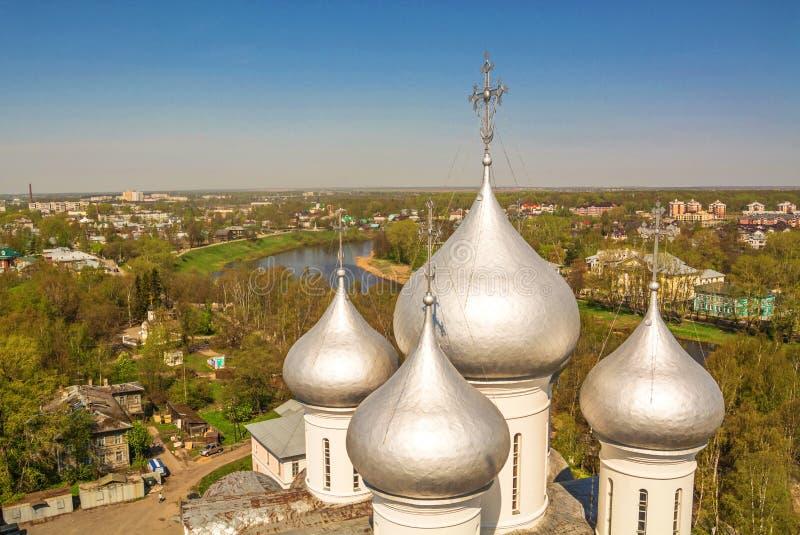 Серебряные куполы стоковые фото