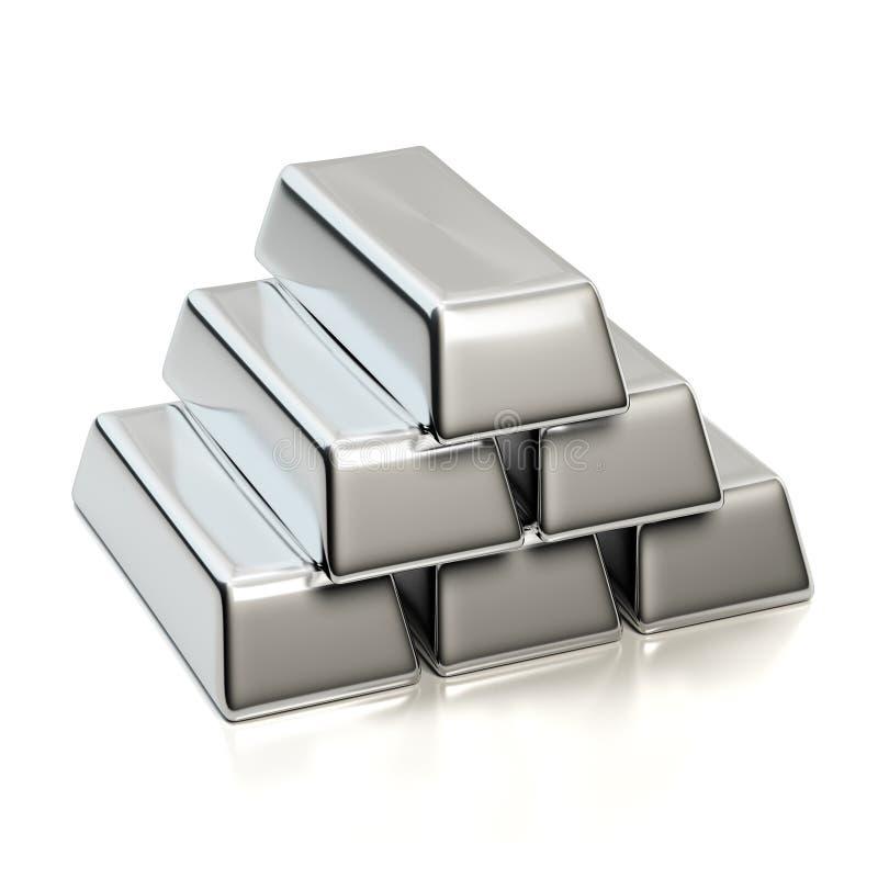 Серебряные миллиарды стоковые фотографии rf