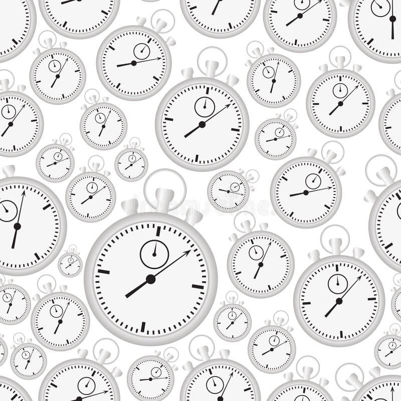 Серебряные случай и шкалы секундомера с картиной eps10 рук безшовной иллюстрация штока