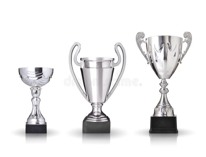 Серебряные трофеи иллюстрация вектора